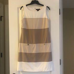 Off white and tan dress